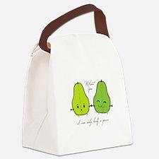 Half A Pear Canvas Lunch Bag