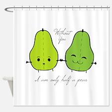 Half A Pear Shower Curtain