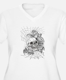 Skull and Roses Plus Size T-Shirt