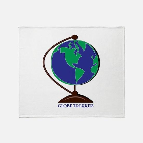 Globe Trekker Throw Blanket