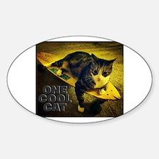 Cool Cat Skateboarding Decal