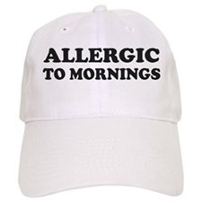 Allergic To Mornings Baseball Baseball Cap
