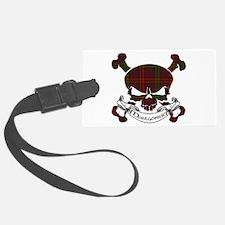 Montgomery Tartan Skull Luggage Tag