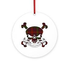 Montgomery Tartan Skull Ornament (Round)