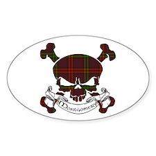 Montgomery Tartan Skull Decal