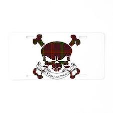 Montgomery Tartan Skull Aluminum License Plate