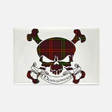 Montgomery Tartan Skull Rectangle Magnet