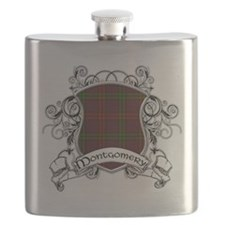 Montgomery Tartan Shield Flask