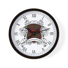 Montgomery Tartan Shield Wall Clock