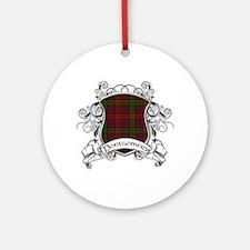 Montgomery Tartan Shield Ornament (Round)