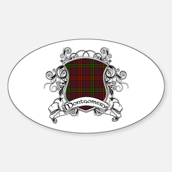 Montgomery Tartan Shield Sticker (Oval)