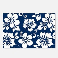 Navy Blue Hawaiian Hibiscus Postcards (Package of