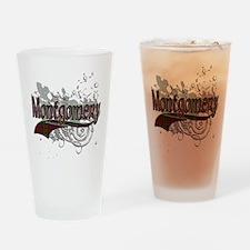 Montgomery Tartan Grunge Drinking Glass