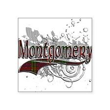 """Montgomery Tartan Grunge Square Sticker 3"""" x 3"""""""