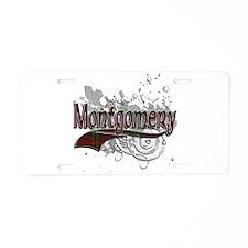 Montgomery Tartan Grunge Aluminum License Plate