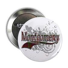 """Montgomery Tartan Grunge 2.25"""" Button"""