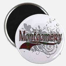 Montgomery Tartan Grunge Magnet