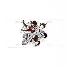 Montgomery Tartan Lion Aluminum License Plate
