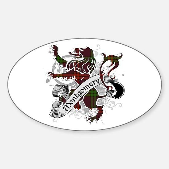 Montgomery Tartan Lion Sticker (Oval)