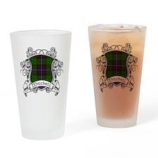 Mitchell Tartan Shield Drinking Glass