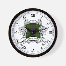 Mitchell Tartan Shield Wall Clock