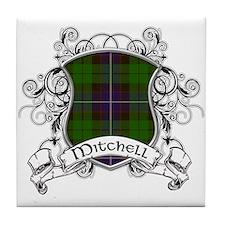 Mitchell Tartan Shield Tile Coaster