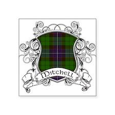 """Mitchell Tartan Shield Square Sticker 3"""" x 3"""""""