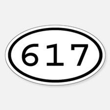 617 Oval Oval Decal