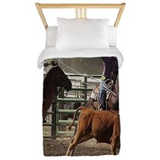 Roping Rodeo Action Twin Duvet