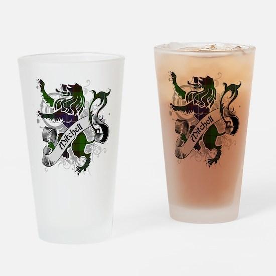 Mitchell Tartan Lion Drinking Glass