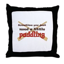 A little paddling Throw Pillow