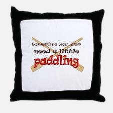 A little paddling Throw Pillow