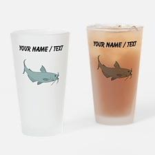 Custom Blue Catfish Drinking Glass