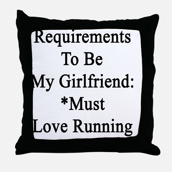 Requirements To Be My Girlfriend: *Mu Throw Pillow
