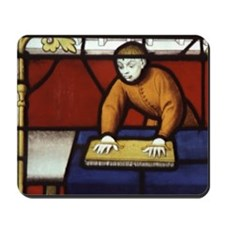 Stained glass window from Semur en Auxoi Mousepad