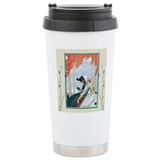 Unique Man and woman in park Travel Mug