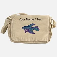 Custom Blue Betta Fish Messenger Bag