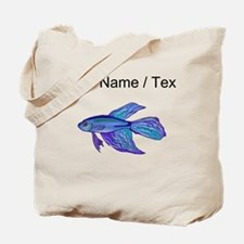 Custom Blue Betta Fish Tote Bag