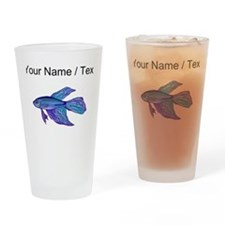 Custom Blue Betta Fish Drinking Glass