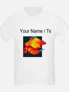 Custom Orange Betta Fish T-Shirt