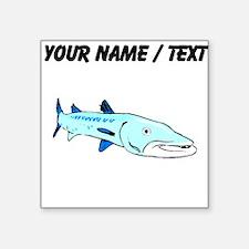 Custom Blue Barracuda Sticker