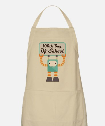 100th Day Of School robot Apron