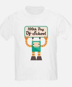 100th Day Of School robot T-Shirt