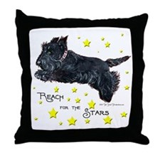Scottish Terrier Star Throw Pillow