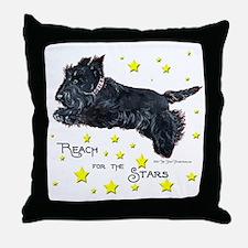 Scottish Terrier Star Throw Pillow