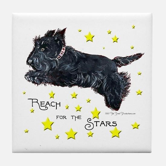 Scottish Terrier Star Tile Coaster