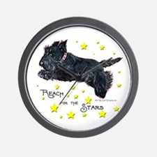 Scottish Terrier Star Wall Clock