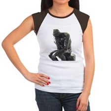 The Thinker, Rodin. Women's Cap Sleeve T-Shirt