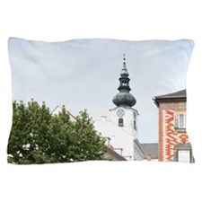 Austria - Rows of red and pink flowers Pillow Case