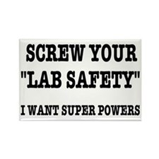 Lab Safety Super Powers Rectangle Magnet